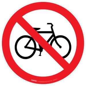 No Bicycles Floor Sign