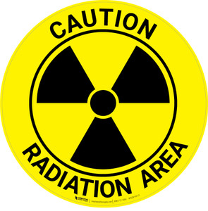 Caution Radiation Area - Floor Sign