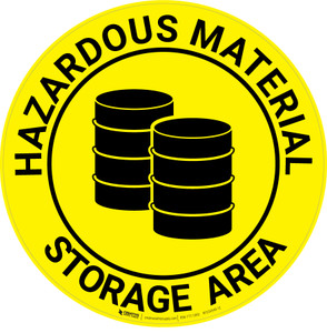 Hazardous Material Storage Area - Floor Sign