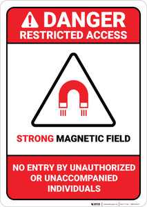 Danger: Restricted Access – Strong Magnetic Field ANSI - Wall Sign