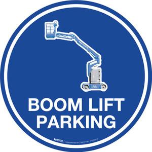 Boom Lift Parking - Floor Sign