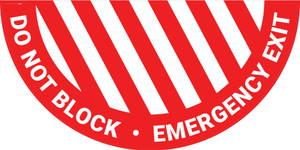 Do Not Block Emergency Exit - Half Swing Sign