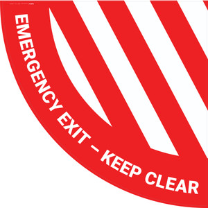 Emergency Exit Keep Clear - Half Swing Sign