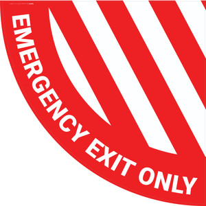 Emergency Exit Only - Half Swing Sign