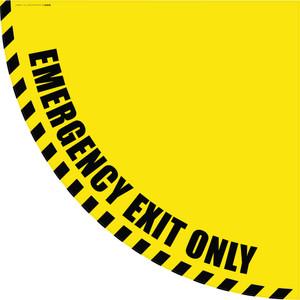 Emergency Exit Only - Yellow Half Swing Door Sign