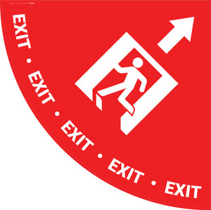 Exit Man Icon with Arrow - Half Swing Sign
