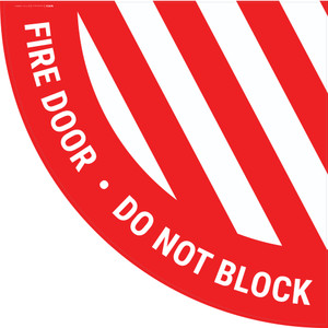 Fire Door Do Not Block - Half Swing Sign
