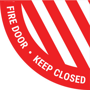 Fire Door Keep Closed - Half Swing Sign