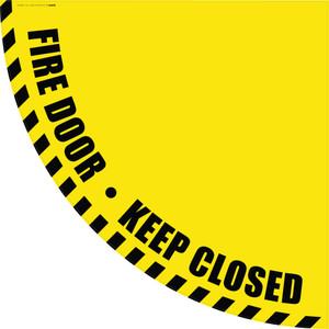 Fire Door Keep Closed - Yellow Half Swing Door Sign