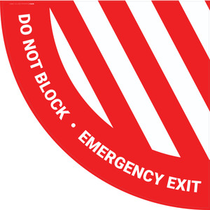 Do Not Block Emergency Exit - Full Swing Door Sign