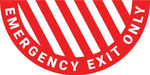 Emergency Exit Only - Full Swing Door Sign
