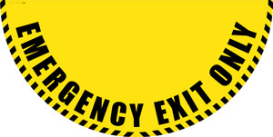 Emergency Exit Only - Yellow Full Swing Door Sign