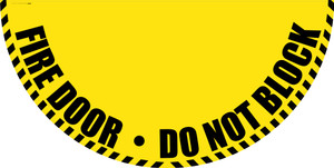 Fire Door Do Not Block - Yellow Full Swing Door Sign