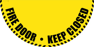 Fire Door Keep Closed - Yellow Full Swing Door Sign