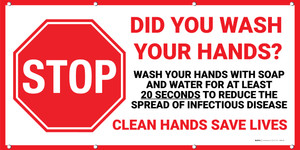 Stop: Did You Wash Your Hands Banner