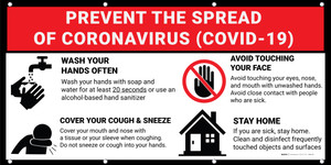 Prevent the Spread of Coronavirus (Covid-19) Banner