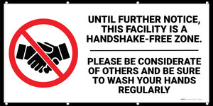 Facility is Handshake-Free Zone Banner