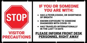 Coronavirus Visitor Precautions Banner