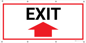 Exit with Arrow Banner