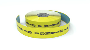 Please Maintain a Distance of 6ft Vertical - Inline Printed Floor Marking Tape