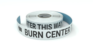 Burn Center This Way With Left Arrow - Inline Printed Floor Marking Tape