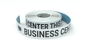 Business Center This Way With Left Arrow - Inline Printed Floor Marking Tape