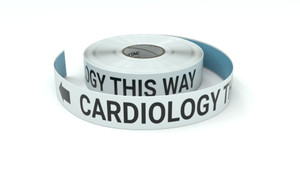 Cardiology This Way With Left Arrow - Inline Printed Floor Marking Tape
