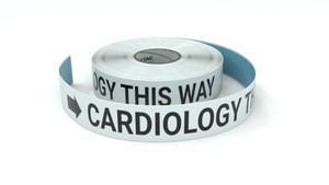 Cardiology This Way With Right Arrow - Inline Printed Floor Marking Tape