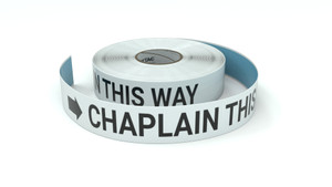 Chaplain This Way With Right Arrow - Inline Printed Floor Marking Tape