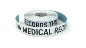 Medical Records This Way With Right Arrow - Inline Printed Floor Marking Tape