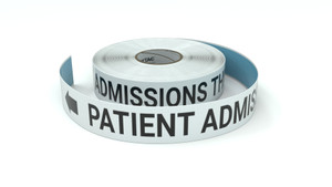 Patient Admissions This Way With Left Arrow - Inline Printed Floor Marking Tape