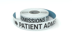 Patient Admissions This Way With Right Arrow - Inline Printed Floor Marking Tape