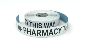 Pharmacy This Way With Right Arrow - Inline Printed Floor Marking Tape