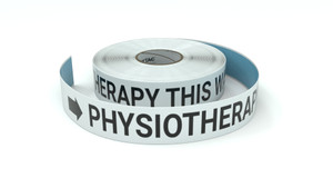 Physiotherapy This Way With Right Arrow - Inline Printed Floor Marking Tape