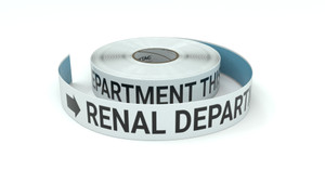 Renal Department This Way With Right Arrow - Inline Printed Floor Marking Tape