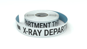 X-Ray Department This Way With Left Arrow - Inline Printed Floor Marking Tape