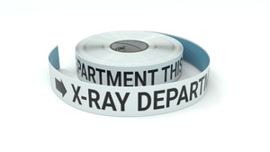 X-Ray Department This Way With Right Arrow - Inline Printed Floor Marking Tape