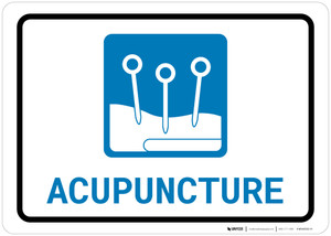 Acupuncture with Icon Landscape - Wall Sign