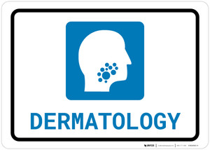 Dermatology with Icon Landscape - Wall Sign