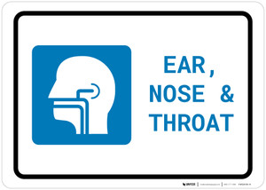 Ears, Nose, and Throat (ENT) with Icon Landscape - Wall Sign