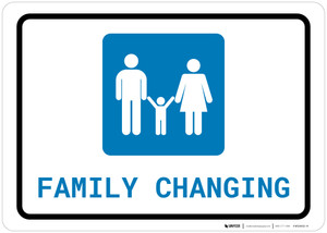 Family Changing with Icon Landscape - Wall Sign