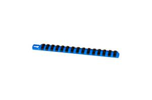 "13"" Socket Organizer and 15 Twist Lock Clips - Blue - 1/4"""