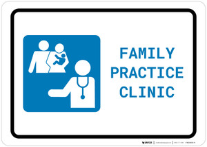 Family Practice Clinic with Icon Landscape - Wall Sign