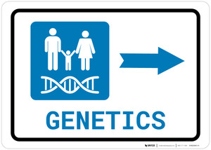 Genetics Right Arrow with Icon Landscape - Wall Sign