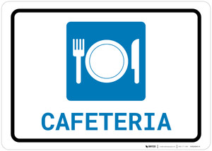 Cafeteria (with Symbol) Landscape - Wall Sign