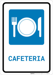 Cafeteria (with Symbol) - Wall Sign