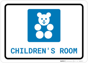 Children's Room with Icon Landscape - Wall Sign