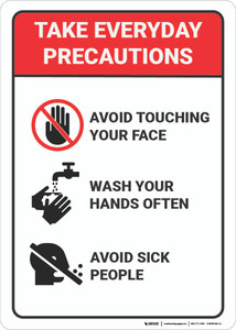 Take Everyday Precautions - Wall Sign