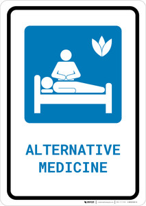 Alternative Medicine with Icon Portrait - Wall Sign