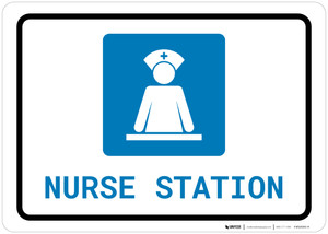 Nurse Station with Icon Landscape - Wall Sign